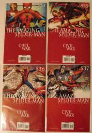 Amazing Spider-Man 533, 535, 536, 537, 538 Marvel Civil War -- COMIC00000105-001