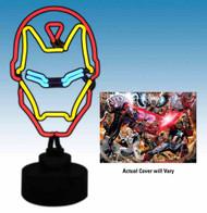 Marvel Iron Man Neon Sign w/ Comic - Diamond Select -- FEB121514