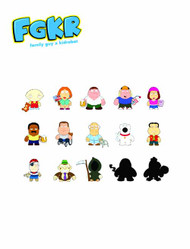 Family Guy Mini Figure 16Pc Bmb DS Series 01 -- FEB121548