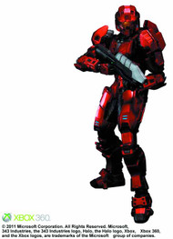 Halo Play Arts Kai Red Spartan Action Figure Square Enix -- FEB121654