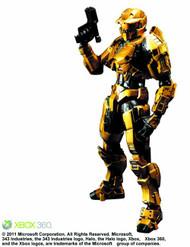 Halo Play Arts Kai PX Gold Spartan Action Figure -- FEB121655