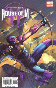 House Of M 4 -- Peterson Hawkeye Variant -- Avengers Bendis Coipel -- COMIC00000133