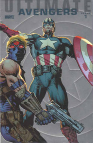 Ultimate Avengers 1 -- Captain America Hawkeye Foil Variant -- Pacheco -- COMIC00000143
