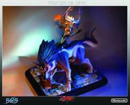 LOZ Twilight Princess Wolf Link & Midna Statue -- Zelda -- FEB131749
