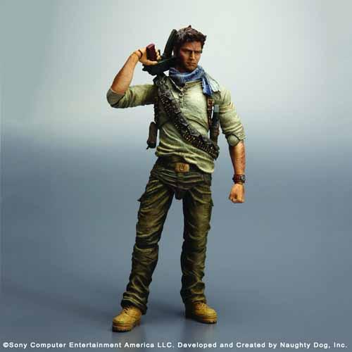 Uncharted 3 Play Arts Kai Nathan Drake Action Figure -- JAN121909
