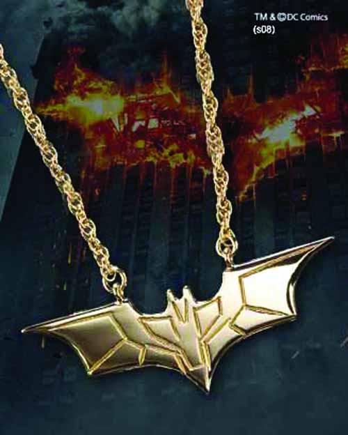 Dark Knight Sterling Silver Gold-Plated Pendant -- JAN121965