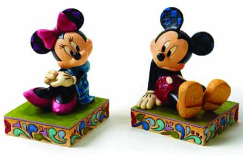 Disney Traditions Mickey/Minnie Bookends -- DEC112033