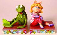 Disney Traditions Kermit/Miss Piggy Bookends -- DEC112034