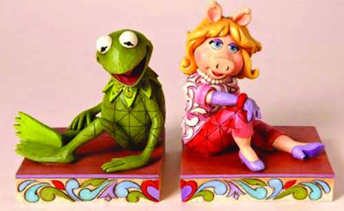 Disney Traditions Kermit/Miss Piggy Bookends -- DEC112034