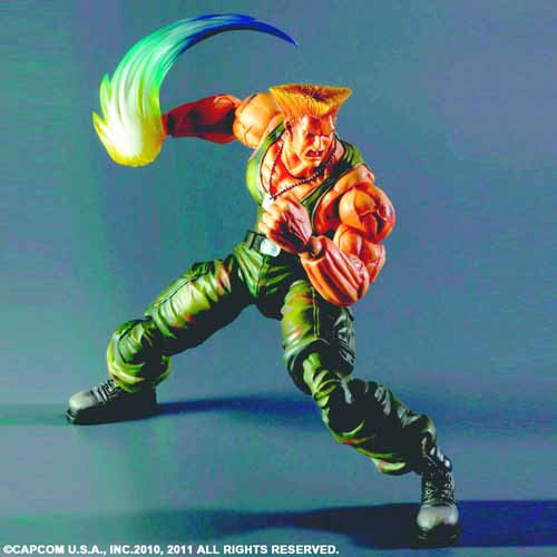 Super Street Fighter IV Play Arts Kai Guile Action Figure -- JAN131844