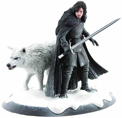Game Of Thrones Jon Snow & Ghost Statue -- Gentle Giant -- DEC120116