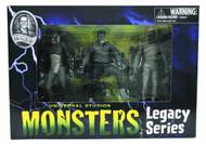 Universal Monsters Series 1 Black & White Figure Set -- JUL121733