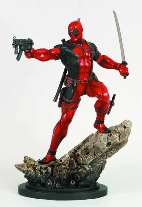 Deadpool Action Statue -- X-Men Avengers Bowen Designs -- JUL121853