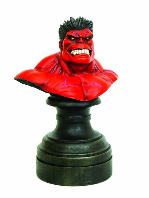 Red Hulk Mini Bust Avengers Banner Ross Bowen Designs -- JUN111903