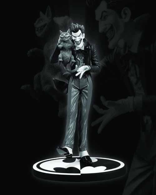 Batman Black & White Joker Statue Brian Bolland -- JUN120309
