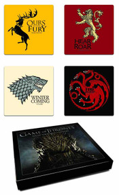 Game Of Thrones Coaster Set House Sigil -- DEC130188