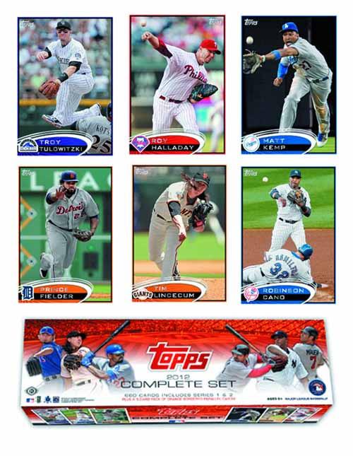 Topps 2012 Baseball Trading Card T/C Complete Set -- JUN121491