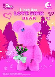 Loves Pink Bear Qee 8In Vinyl Figure -- JUN121812