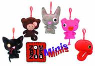 Zombie Zoo Mini Plush Clip-On 10 Piece Assortment -- JUN121827