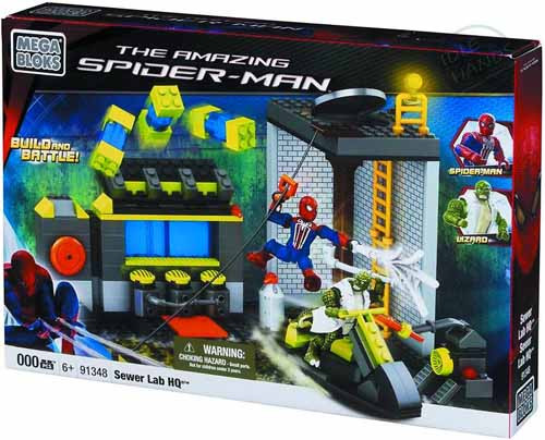 Mega Bloks Spider-Man 4 Sewer Lab HQ Set -- JUN121867