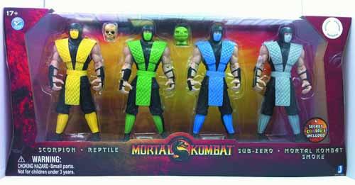 Mortal Kombat 6-In Retro Ninja Action Figure 6-Pack -- JUN121879