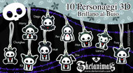 Skeleanimals 3D Phone Strap 100 Piece Assortment -- JUN121974