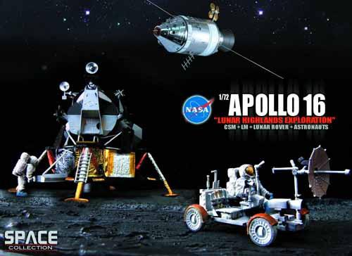 Nasa Apollo 16 Lunar Highlands 1/72 Scl Model -- JUN121994