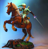 Loz Link On Epona Statue -- JUN122000