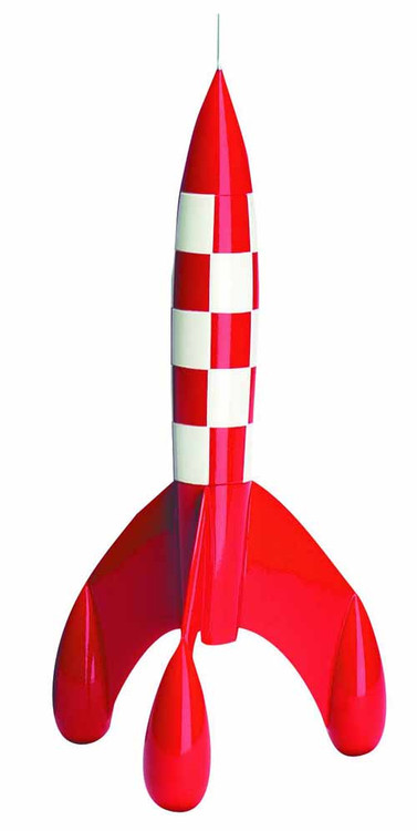 Tintin Rocket 29 Cm Resin Figurine -- JUN122038