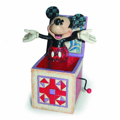 Disney Traditions Mickey In The Box Figurine -- JUN122156