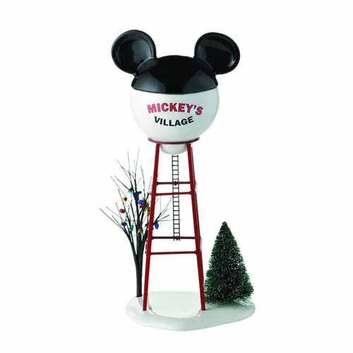 Disney Mickey Xmas Village Mickey Watertower -- JUN122159