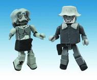 Walking Dead Minimates Halloween 2012 B&W 2-pack -- Kirkman -- DEC131835