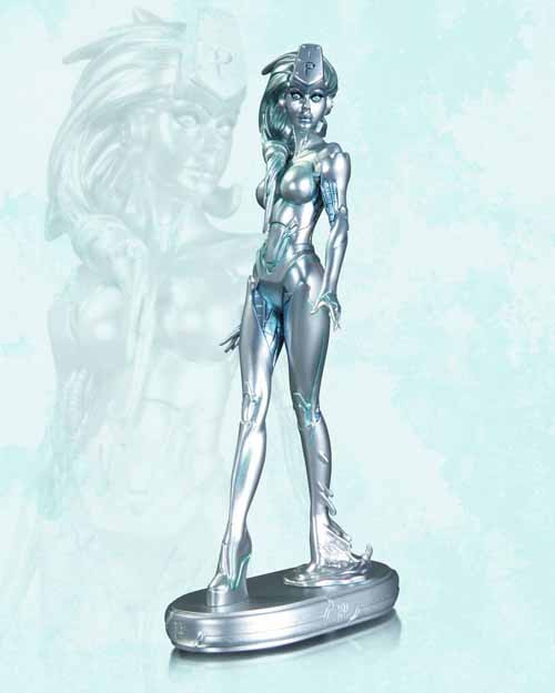 DC Comics Cover Girls Platinum Statue -- MAR130313
