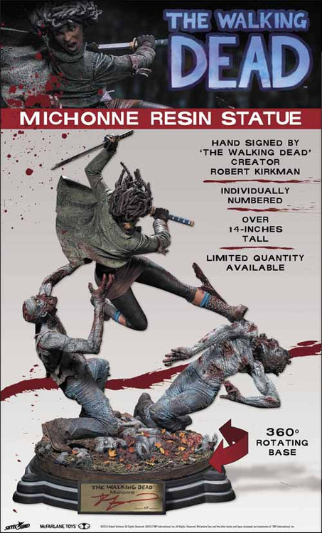 Walking Dead Michonne Resin Statue--Kirkman McFarlane Toys -- MAR130599