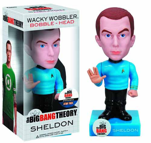Big Bang Theory BBT X Star Trek Sheldon Wacky Wobbler -- DEC132159