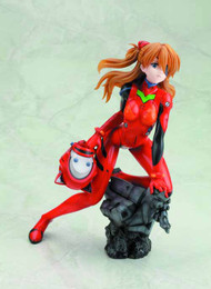 Evangelion Asuka Langley Ani-Statue Q Plug Suit Version -- MAR132009
