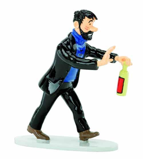 Tintin Haddock With Bottle Lead Figurine -- MAR132126