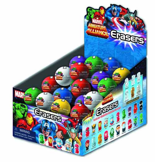 Marvel Heroes Erasers Blind Egg Dsp Assortment -- MAR132204