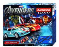 Avengers Hero Team Chase 1/43 Slot Car Track Set -- MAY121780
