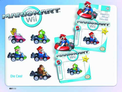 Mariokart Wii Die-Cast 12-Piece Assortment -- MAY121820