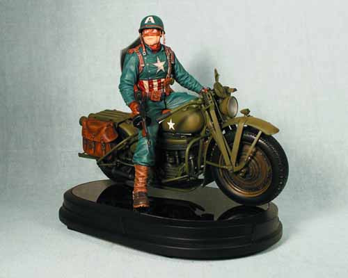 Captain America/Motorcycle Statue -- Avengers Gentle Giant -- MAY121878