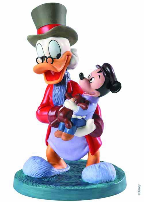 Disney WDCC Scrooge Mcduck & Tiny Tim Statue -- FEB131655
