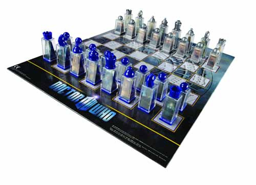 Doctor Who Lenticular Animated Chess Set -- NOV111630