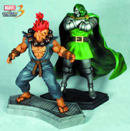 Dr Doom Vs Akuma 1/4 Scale Statue Set -- NOV121816