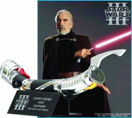 Star Wars ROTS Ep III Count Dooku Stunt Lightsaber Replica -- JAN121843