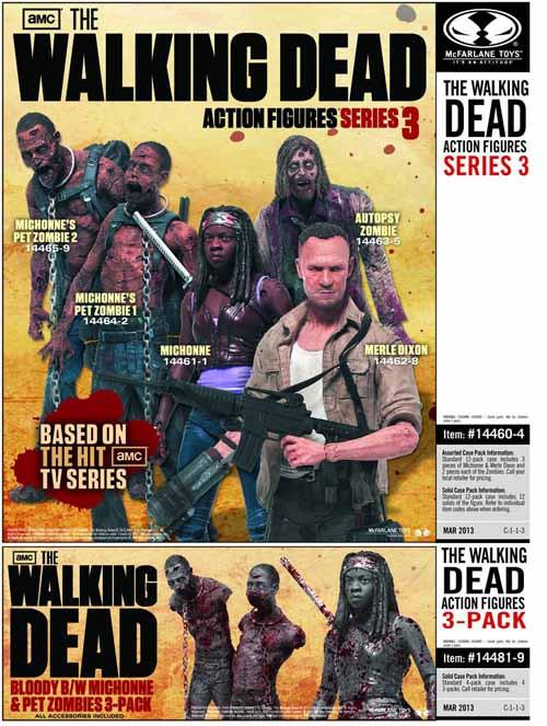 Walking Dead TV Series 3 Merle Dixon Action Figure Case -- JAN130622