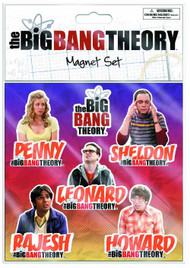 Big Bang Theory Flat Magnet 6-Pk 12-Piece Assortment -- JUL122030