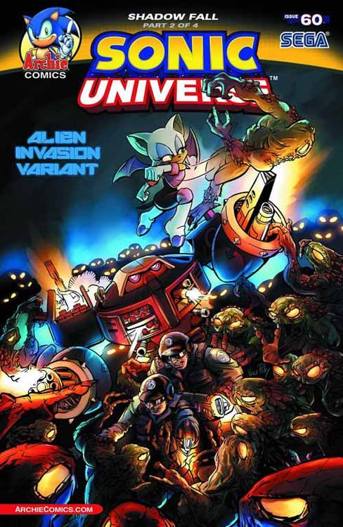 Sonic Universe #60 Alien Invasion Variant Cover -- NOV130789
