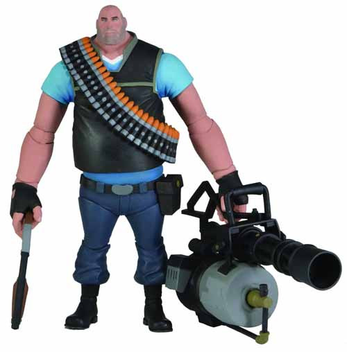 Team Fortress Series 2 Blu Heavy Deluxe Action Figure -- NOV131971