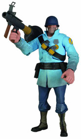 Team Fortress Series 2 Blu Soldier Deluxe Action Figure -- NOV131972